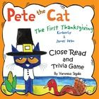 Thanksgiving, Thanksgiving Activities, Thanksgiving Writing, Thanksgiving Pete the Cat, Pete Sake Thanksgiving Trivia, Close read of Pete the Cat First Thanksgiving. A Close Reading of Pete the Cat The First Thanksgiving This Pete the Cat book is perfect for a close read!