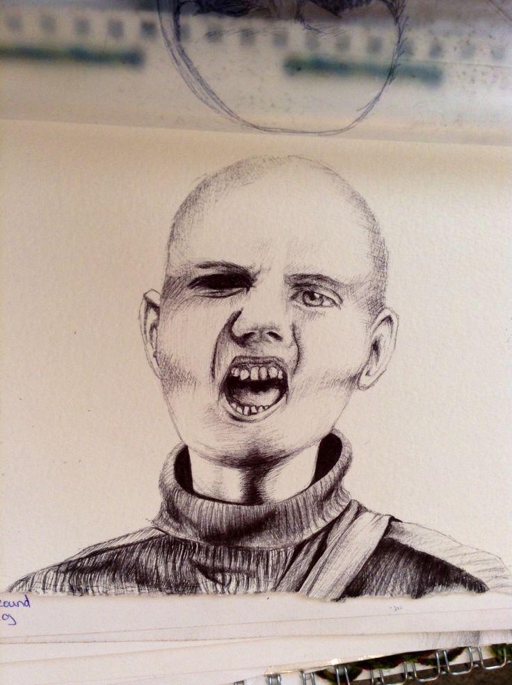 Billy Corgan biro study.