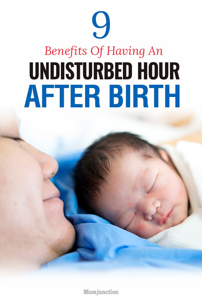 9 Super Benefits Of Having An Undisturbed Hour After Birth