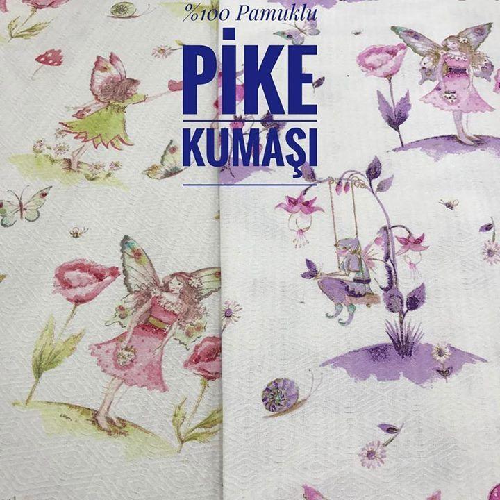 Cici Periler Pike Kumaş isimli ürünümüzü sitemizden satın alabilirsiniz.En 240 cm metresi 17.50  #intaslar #kumaş #pike #pikelik #pikelikkumaş