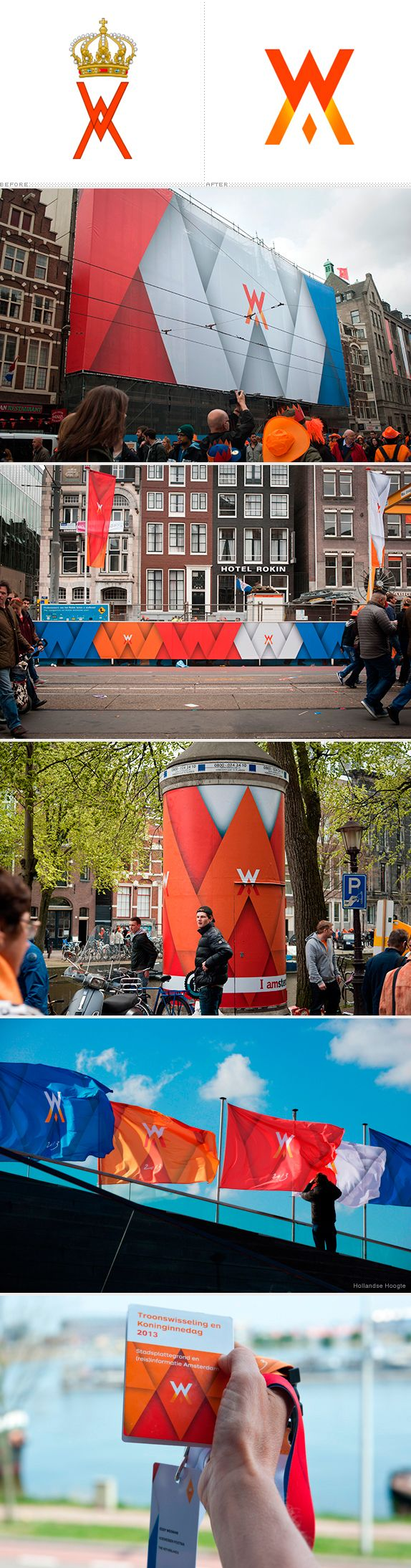 Branding for the inauguration of Willem-Alexander as King of The Netherlands, 30-04-'13. #greetingsfromnl