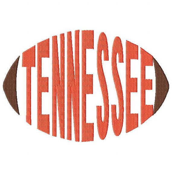 Tennessee Football Word embroidery design sized for 5x7 and 6x10 hoops - football design - word art - word embroidery - team spirit - spirit towels
