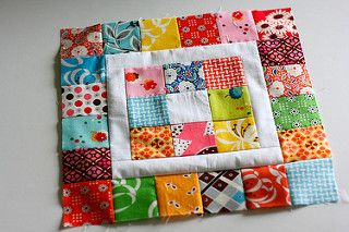 108.365 Patchwork Square in a Square | by The Sometimes Crafter