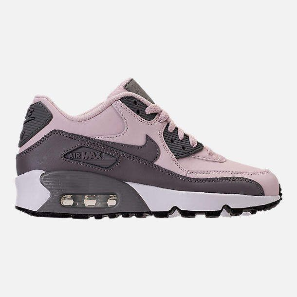 Nike Girls' Grade School Air Max 90 Leather Casual Shoes