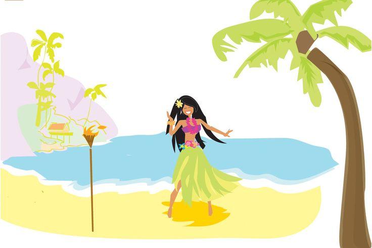 Hawaiian girls art | Vintage Hula Hawaiian Girl Tattoo Art Apron from Zazzle.com