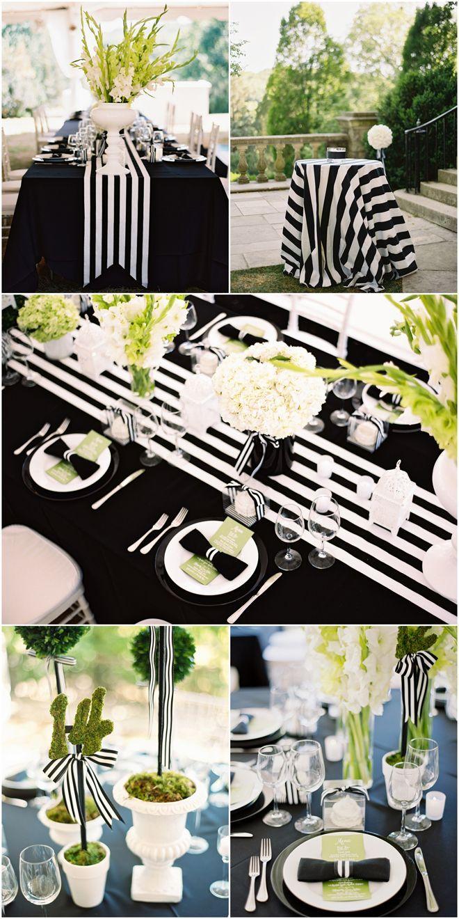 177 best black white event design images on pinterest event black and white striped wedding inspiration junglespirit Images