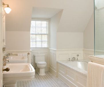 124 Best Images About All White Baths On Pinterest