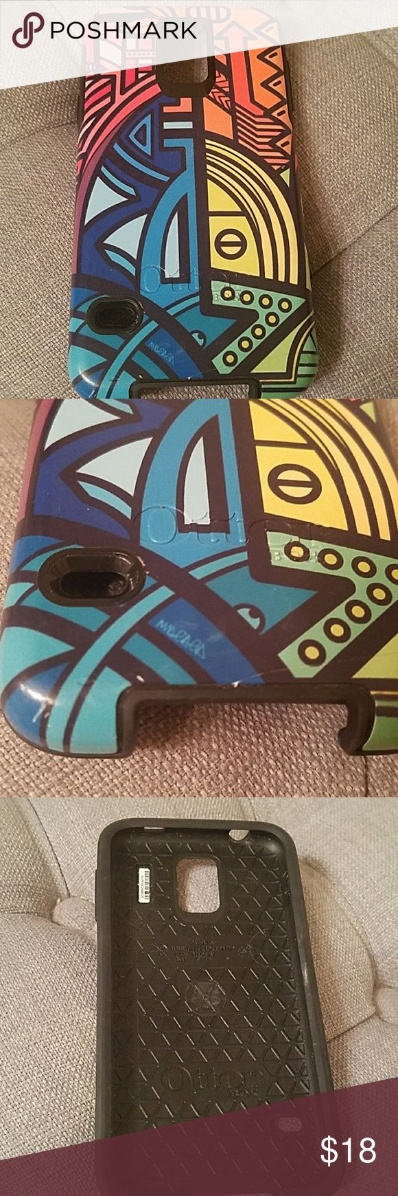Otterbox slim case Samsung Galaxy S5 Used otterbox case in wild Brazilian print designed by fashion editor Nina Garcia. A few tiny scratches see photos. Fits phone perfectly and very snug. I like this style as it's not as boxy and bulky like the other otterbox cases but still provides protection.   Cellphone not included. Otterbox Accessories Phone Cases