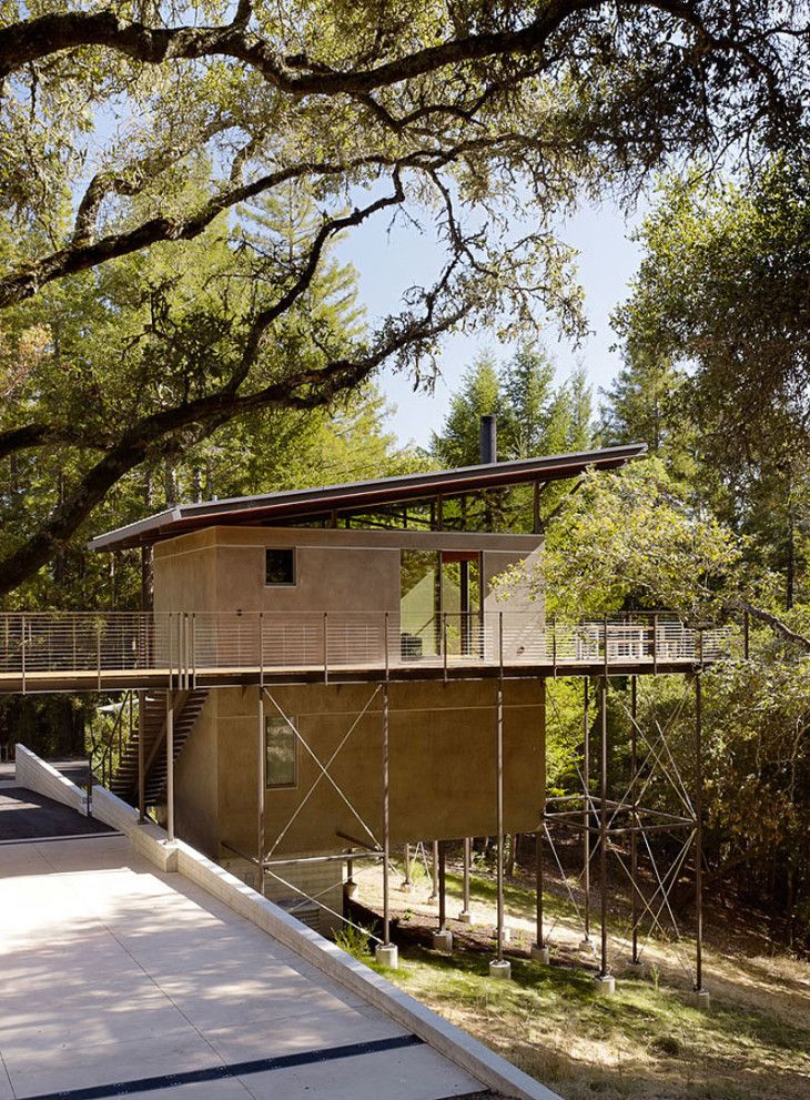 Beautiful Sonoma Mountain House Design Exterior With Small Contemporary House Design - pictures, photos, images