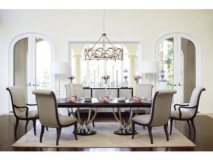 Shop For Miramont Double Pedestal Dining Table, And Other Dining Room  Dining Tables At Star Furniture TX. The Glamorous Transitional Miramont  Collection ...