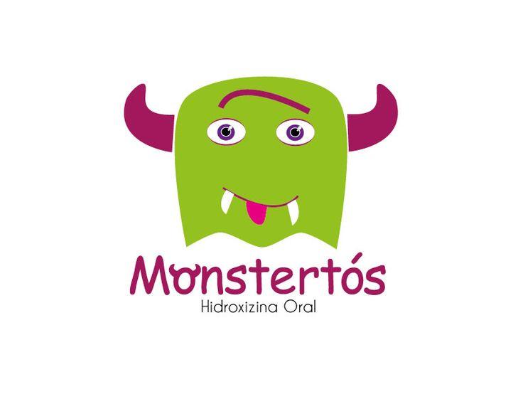 Imagotipo 'Monstertós' para Diseño Corporativo, trabajo con tipografía Comic Sans.