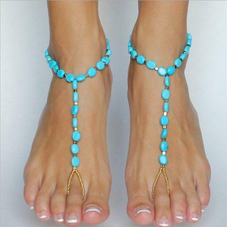 Mini Beads Fashion Barefoot Sandal Anklets