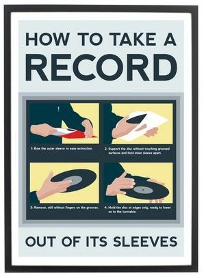 #howto take a record out of it's sleeve.
