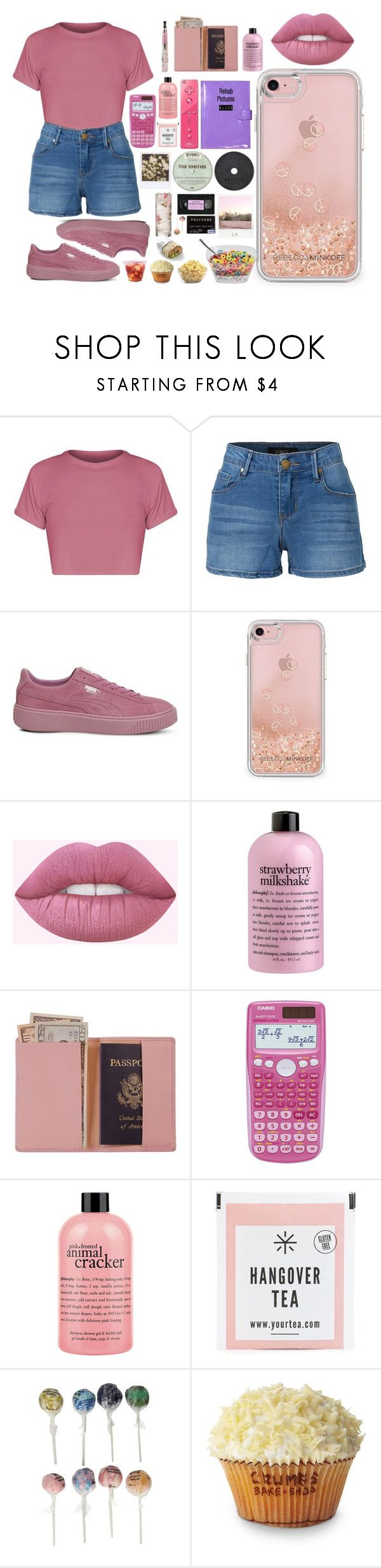 """Release Me"" by elizz-denne on Polyvore featuring LE3NO, Puma, Rebecca Minkoff, philosophy, Royce Leather, Casio, Nintendo, St. Tropez, Polaroid and Original Gourmet Food Company"