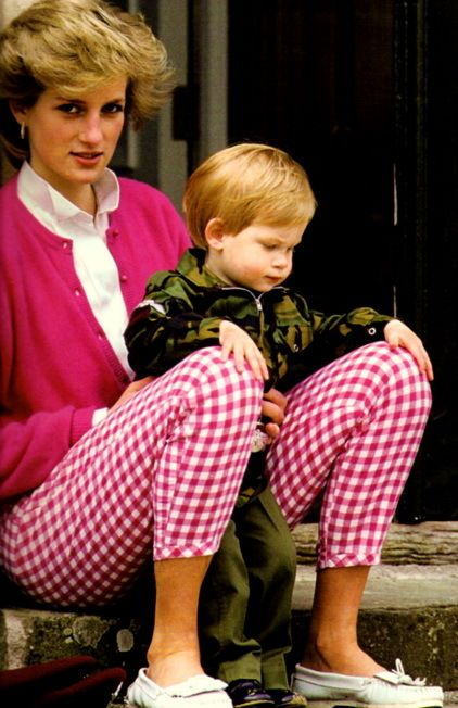 Quality time with Mummy ~ Prince Harry with Princess Diana