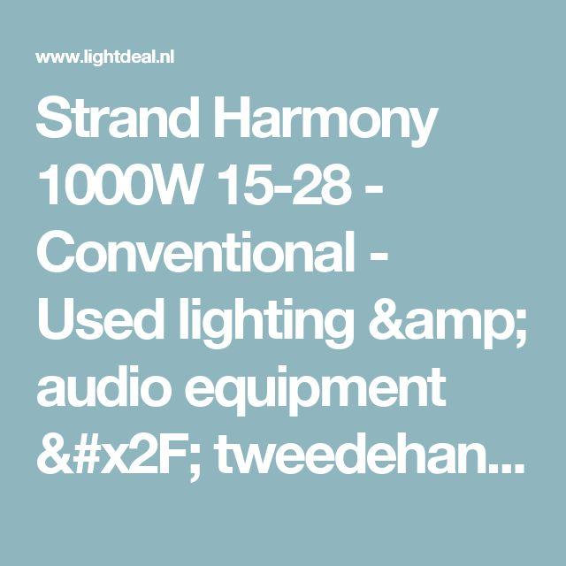 Strand Harmony 1000W 15-28 - Conventional - Used lighting & audio equipment / tweedehands audio & licht apparatuur
