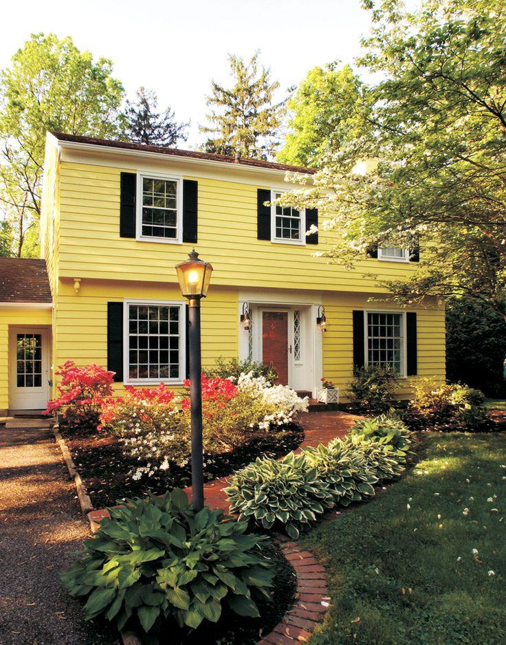 Yellow House Red Door Black Shutters best 25+ yellow houses ideas on pinterest | yellow house exterior