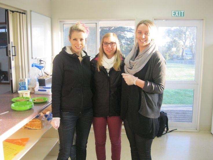 Amanda and Georgia supporting Bailey Road School and #KidsCan via their breakfast club!