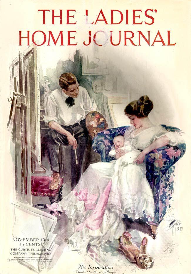 Harrison Fisher Original Watercolor | Ladies' Home Journal 1914