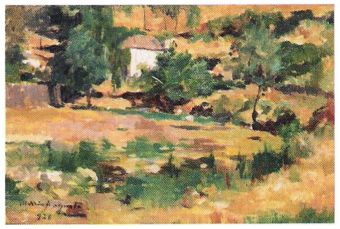 1926  Óleo sobre tela colada em cartão (29,5 x 20 cm)