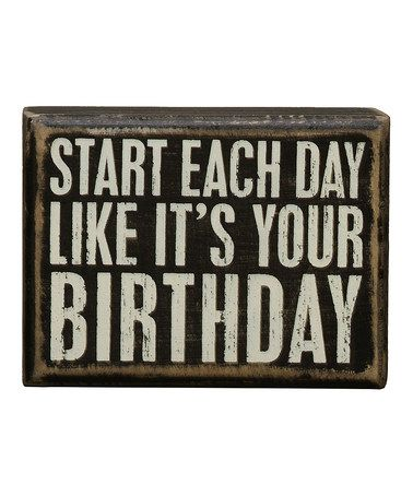 This 'Birthday' Wall Sign by Primitives by Kathy is perfect! #zulilyfinds