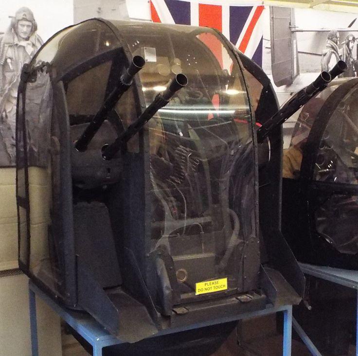 Fraser Nash 120 Rear Turret as on Lancasters Stirlings Wellingtons Yorkshire Air Museum Elvington