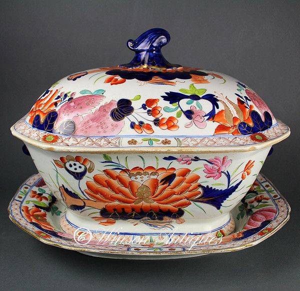 chinese tureens | Mason's Ironstone China soup tureen Water Lily pattern. Circa 1813 - 1820