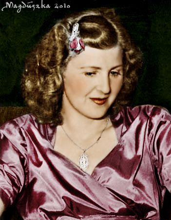 Eva Braun had ordered her sister to burn the records showing what she spent on her dresses.