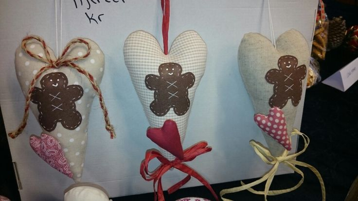 Hearts with gingerbread men