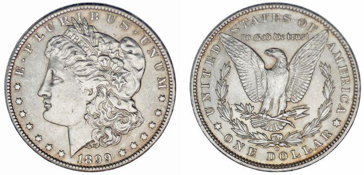 1 SILVER US DOLLAR/1 DÓLAR MORGAN. NEW ORLEANS-NUEVA ORLEANS 1889 O. XF+/EBC+