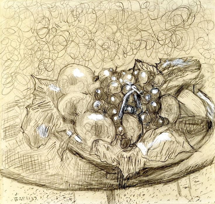 Still Life with Fruit / Pierre Bonnard - circa 1935
