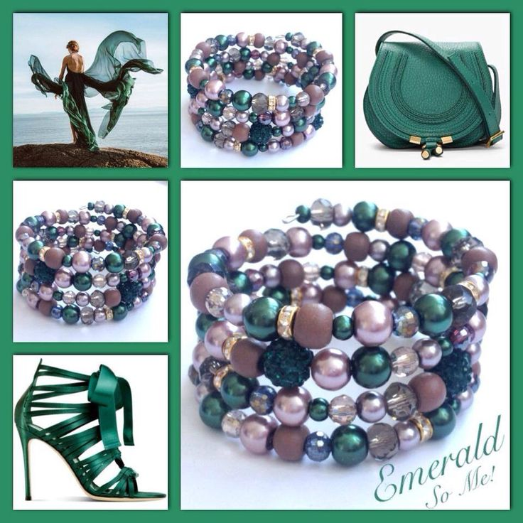 Emerald! Moderne, mooie zelfgemaakte armbanden, glas parels, glas kralen , Memory wire, http://some-accessoires.nl