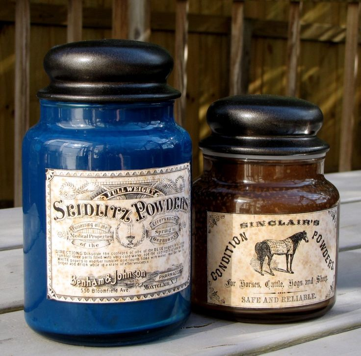 DIY Antiqued Apothecary Jars made with folkart paint, pretty good tutorial of sorts. (Not exactly step by step, but pretty easy to figure out from what she tells you.)