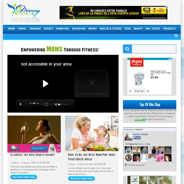 New Website Submitted to Our Directory: Name: Mommy Athlete, Category: Advertising, Link: http://www.mommyathlete.com/