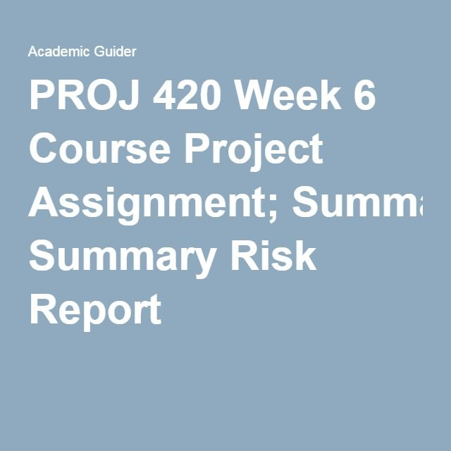 PROJ 595_Project Risk Management_Week 8 Final Exam Complete A+ Answer