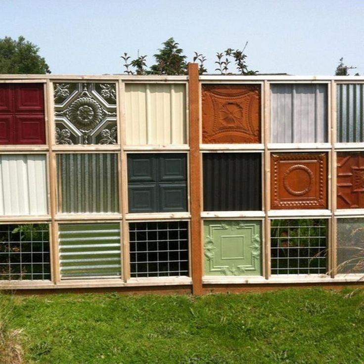 Best unique fence designs images on pinterest