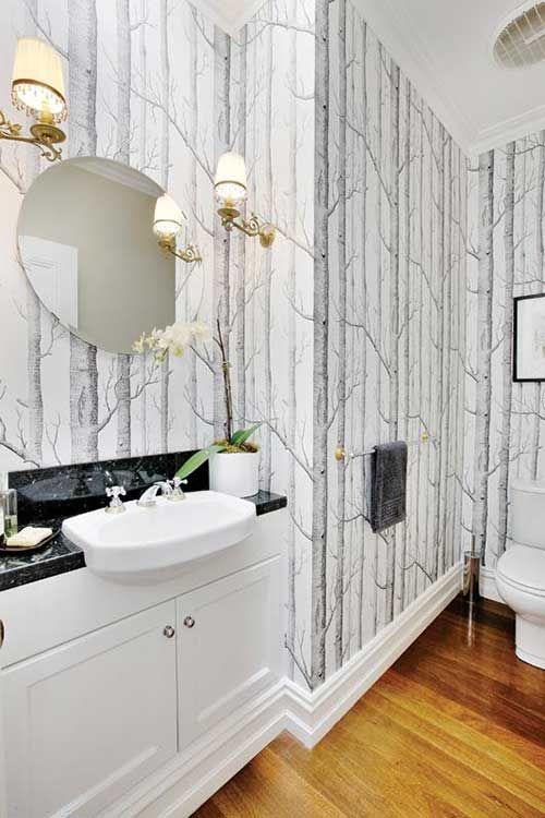 10 ideas para decorar el cuarto de baño con papel pintado.   Mil Ideas de Decoración