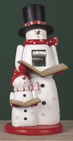 Caroler Snowman Family Christmas 12 Inch Nutcracker  I would like this for christmas