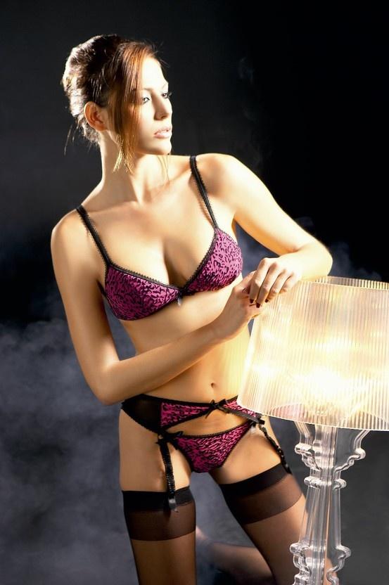 NIG 129 Bra - NIG 120 Suspender Belt - NIG 111 String Tanga