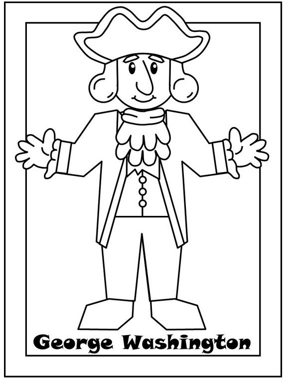 George Washington Coloring Pages George Washington Preschool