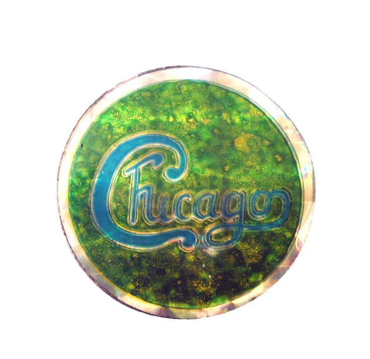 Chicago Map Loop%0A vintage CHICAGO Transit Authority band enamel pin button    or   to