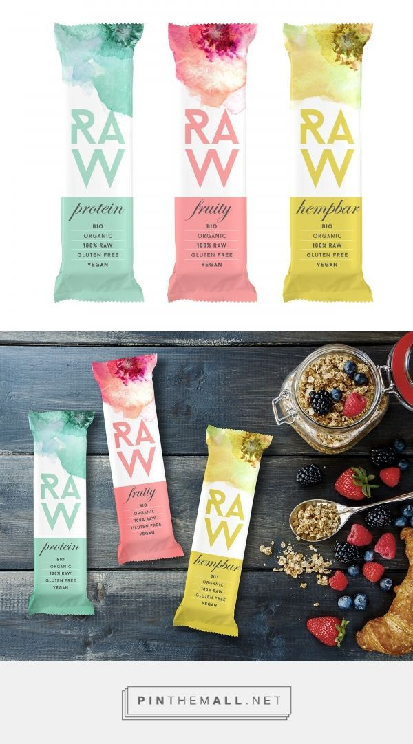 Raw Bar Branding and Packaging by MAISON D'IDÉE curated by Packaging Diva PD. 100% raw, organic, gluten free and vegan for Millennials.