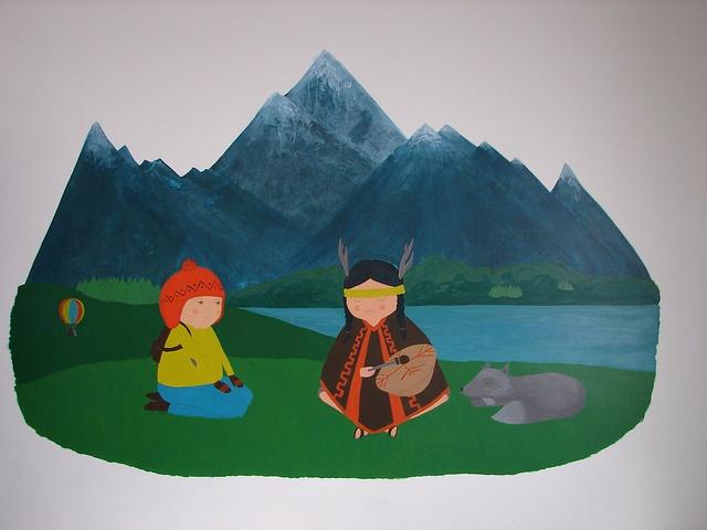 Mariu Peluso: Niño del norte y niña mapuche