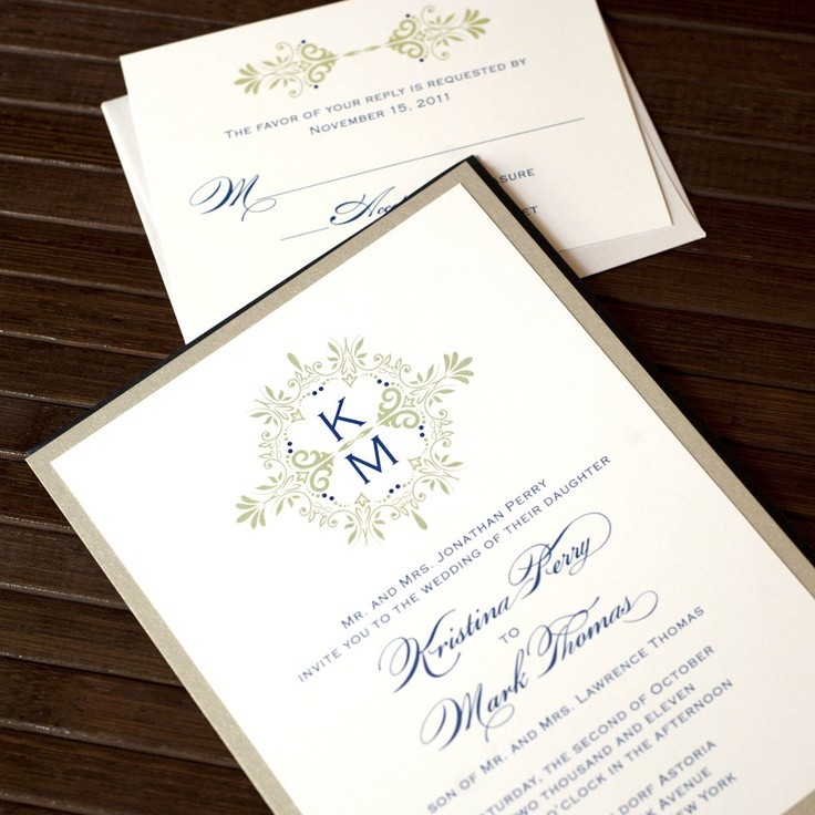 printable samples of wedding invitations%0A Printable Wedding Invitations Vintage Wedding Invitations Monogram Wedding  Invitations Digital Files for SelfPrint