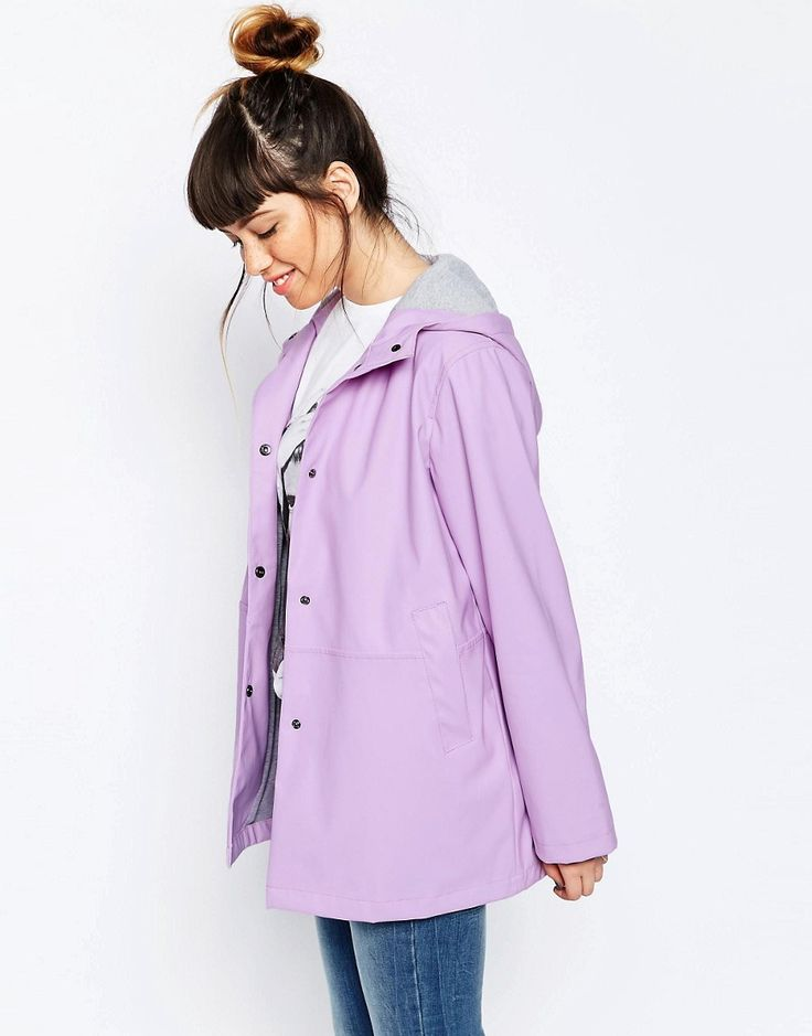 ASOS Rain Trench in Block Color