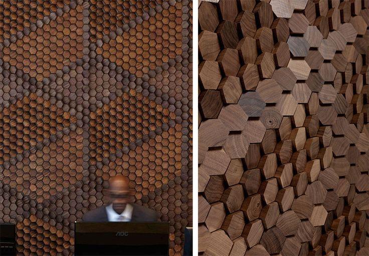 Пиксельная мозаика от Giles Miller Studio. Инсталляции с графическим рельефом