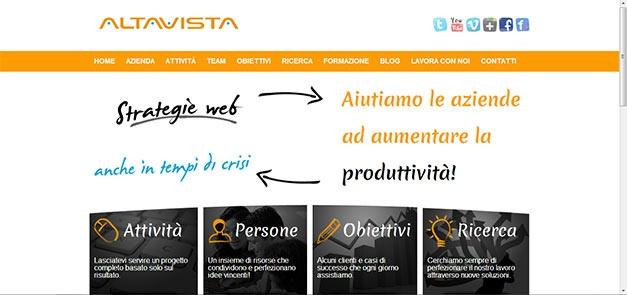 Redazione dei testi per il sito www.altavistacomunicazione.net/