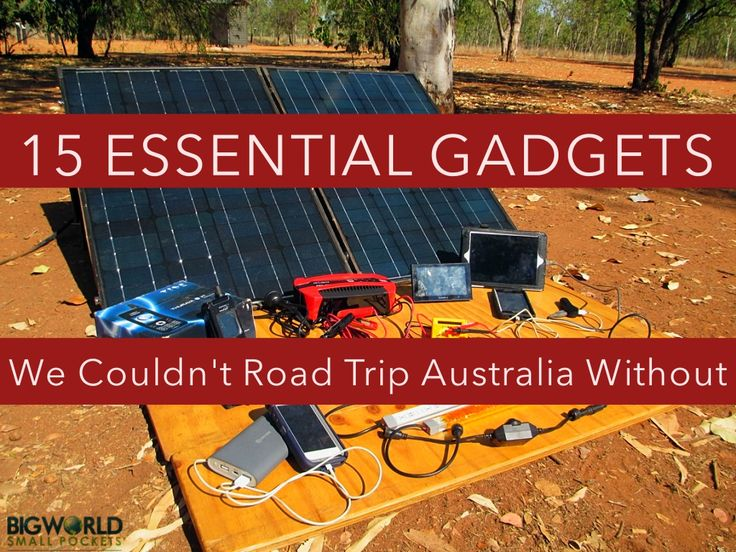 Living on the road for 6 months has definitely taught us what is and isn't necessary. Here's 15 essential gadgets we couldn't road trip Australia without.