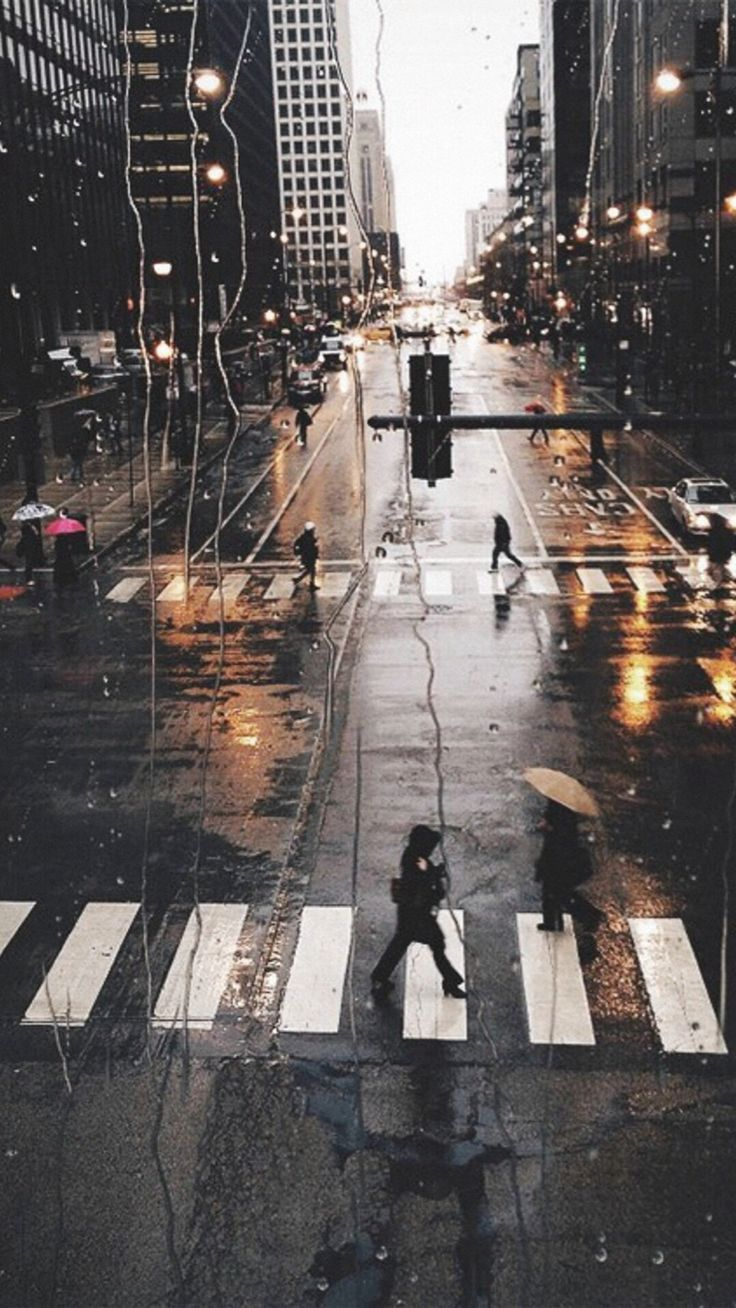 Rainy City View Outside Window Glass Street View #iPhone #6 #plus #wallpaper