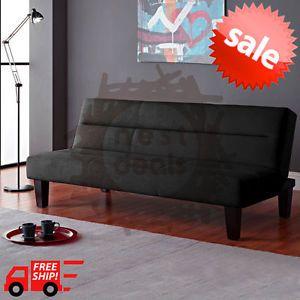 Dorm-Furniture-Room-Living-Mattress-Lounger-Modern-Black-Microfiber-Bed-Couch-FS